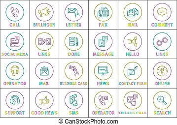 Message sms phone calls icons vector illustration