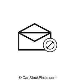 message stopped vector design template illustration