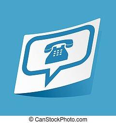 message téléphonique, autocollant