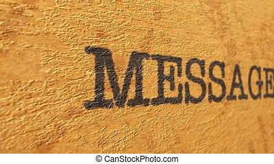 Message text on grunge background