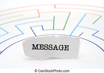 message texte, labyrinthe