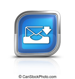 Message Time Blue Icon Sign