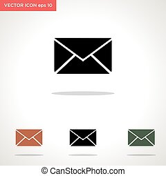 message vector icon isolated on white background