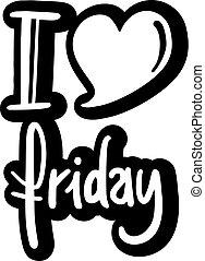 message, vendredi, amour