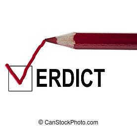message, verdict