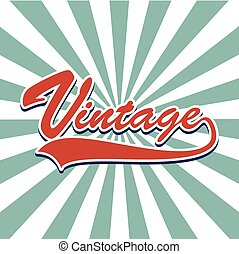 "message "" Vintage "" Vintage style color"