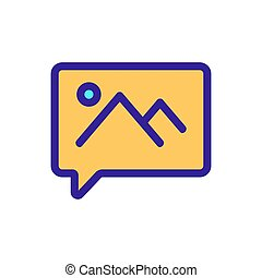 message with the image of the vector icon. Isolated contour symbol illustration