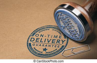 messagerie, image, livraison, temps, garantie