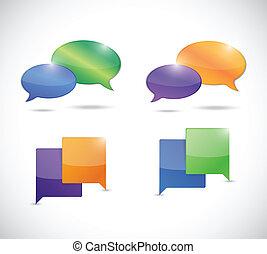 messages bubbles illustration design