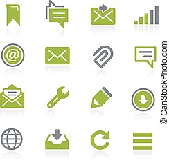 Messages Icons. Natura