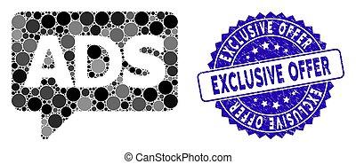 messaggio, advertisiment, icona, offerta, francobollo, ...