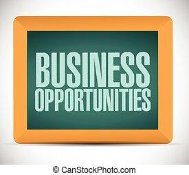 messaggio, affari, opportunità, segno