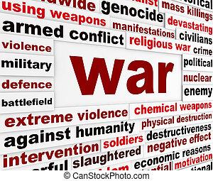 messaggio, armato, guerra, conflitto