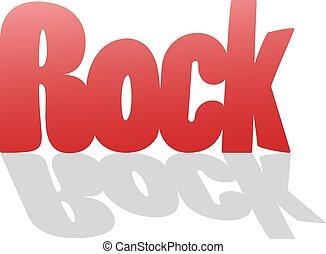 messaggio, bello, roccia rossa