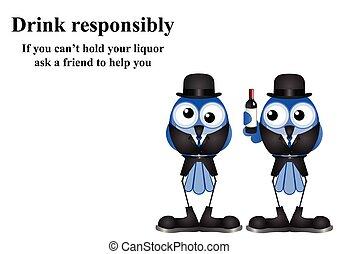 messaggio, bevanda, responsibly