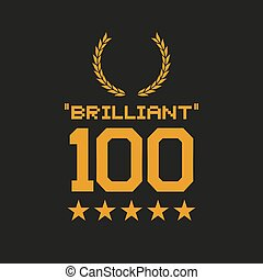 messaggio, brillante, 100