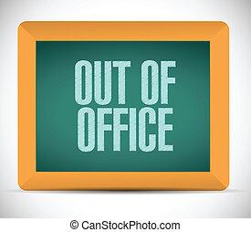 messaggio, disegno, illustrazione, ufficio, fuori