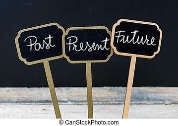 messaggio, futuro, passato, affari, presente