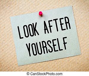 messaggio, secondo, sguardo, te stesso