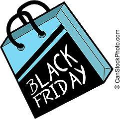 messaggio, venerdì, nero, vendita, bello