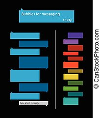messaging, bubblar