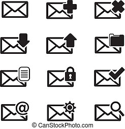 messaging icon sets - suitable for user interface