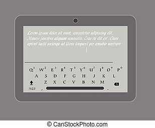 Messaging with Tablet Vector