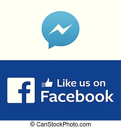 Messenger and Facebook Background Vector Image