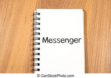 Messenger concept on notebook