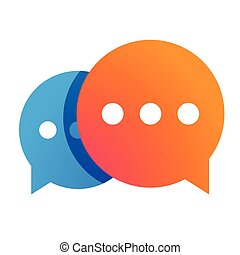 Messenger icon chat vector orange
