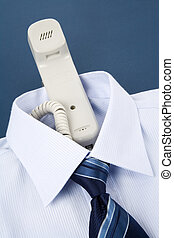 Messenger - Shirt and phone, Business Concept