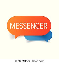 Messenger speech bubble chat icon  vector