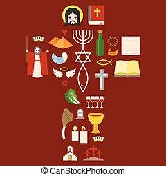 messianic, judaísmo, señal, y, bíblico, icono, de, éxodo,...