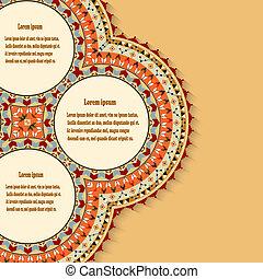 messicano, astratto, elemento, disegno, fondo, style.