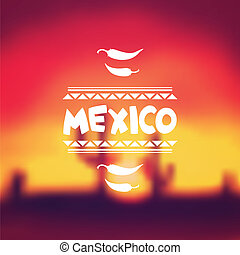 messicano, disegno, fondo, etnico, style., nativo