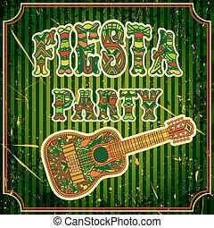messicano, fiesta, festa, invito