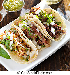 messicano, tacos, barbacoa, pollo, carnitas, autentico