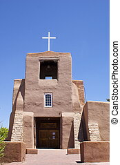 messico nuovo, adobe, chiesa