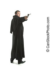 messieurs, fusil, tenue