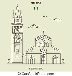 Messina cathedral, Italy. Landmark icon