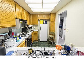 Messy Condo Kitchen