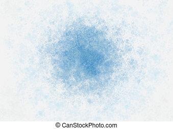 Messy watercolor blue spot