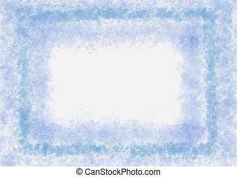 Messy watercolor light blue frame