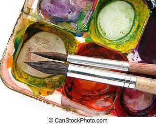 messy watercolors