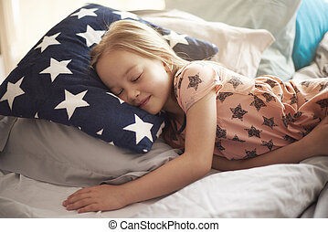 mest, plats, sömn, komfortabel
