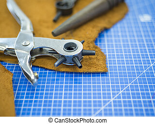 mesterkedő, megkorbácsol, élet, master's, workshop., mozdulatlan, eszközök