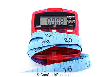 mesure, bande, pedometer