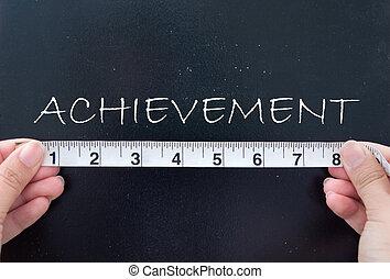 mesurer, accomplissement
