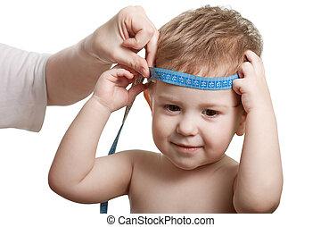 mesurer, enfant