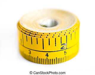mesurer, fin, bande, haut
